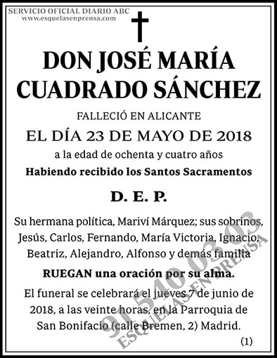 José María Cuadrado Sánchez